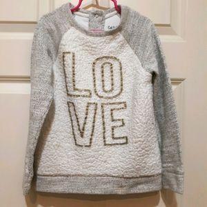 Girl's Cat & Jack sweater w Sparkle!